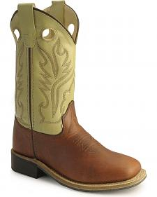 Old West Childrens' corona calfskin cowboy boots