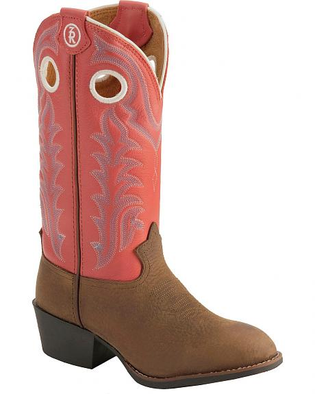 Tony Lama Youth Girls' 3R Buckaroo Boots - Round Toe