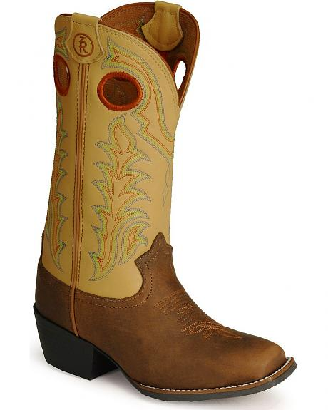 Tony Lama Youth Tiny Lama 3R Buckaroo Boot - Square Toe