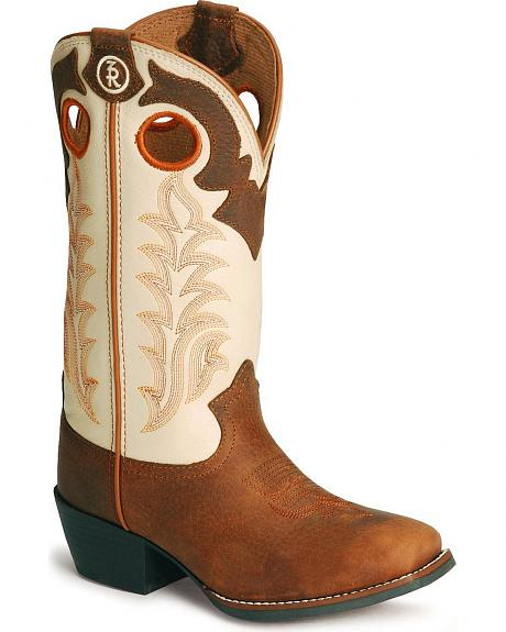 Tony Lama Children's Tiny Lama 3R Western Cowboy Boots - Square Toe