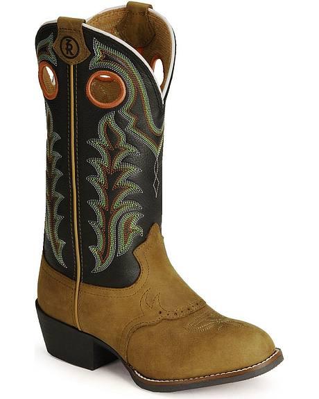 Tony Lama Children's Tiny Lama 3R Cowboy Boots - Round Toe