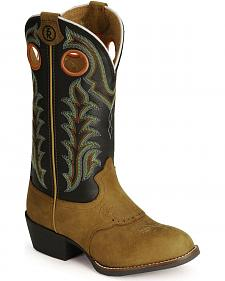 Tony Lama Youth Tony Lama 3R Cowboy Boots - Round Toe