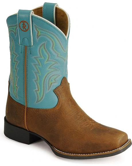 Tony Lama Youth Tiny Lama 3R Cowboy Boots - Square Toe