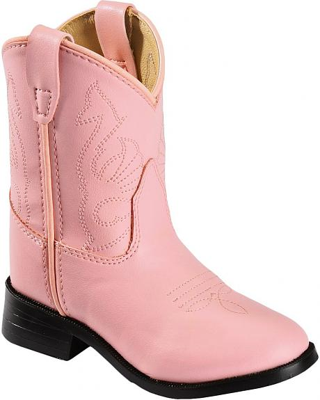 Red Ranch Toddler Pink Western Cowgirl Boots