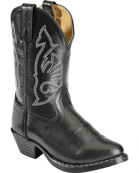 Red Ranch Children's Black Western Cowboy Boots