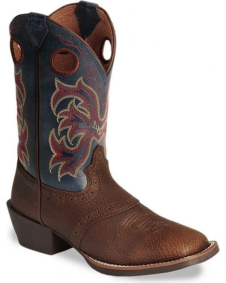 Justin Boys' Stampede Cowboy Boots - Square Toe