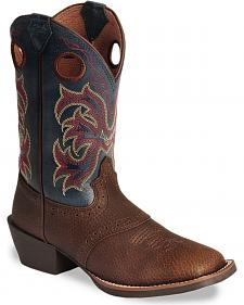 Justin Youth Boys' Junior Stampede Cowboy Boots - Square Toe