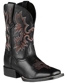 Ariat Youth Boys' Tombstone Black Deertan Cowboy Boots