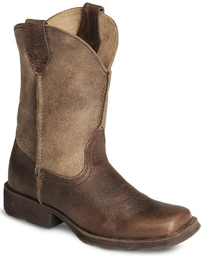 Ariat Youth Earth Rambler Cowboy Boot Square Toe