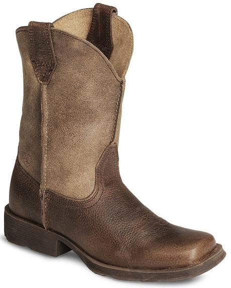 Ariat Boys' Earth Rambler Cowboy Boot - Square Toe