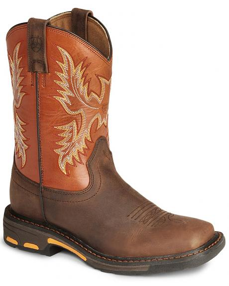 Ariat Boys' Earth Workhog Cowboy Boots