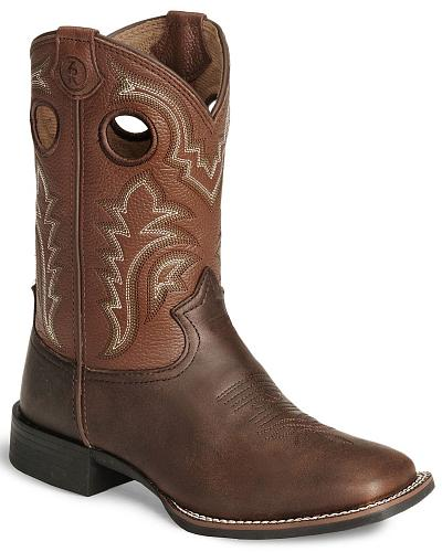 Tony Lama Childrens Tiny Lama 3R Tan Cowboy Boots Square Western & Country LL506C