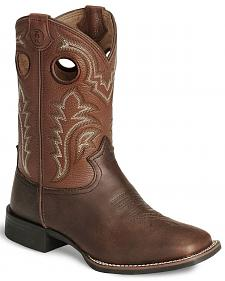 Tony Lama Boys' Tiny Lama 3R Tan Cowboy Boots - Square Toe