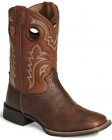 Tony Lama Youth Boys' Tiny Lama 3R Tan Cowboy Boots - Square