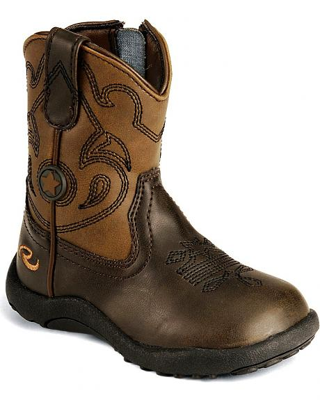 Roper Infant/Toddler Brown Chunk Cowboy Boots