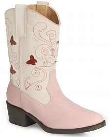 Roper Girls' Butterfly Light Cowgirl Boot - Round Toe