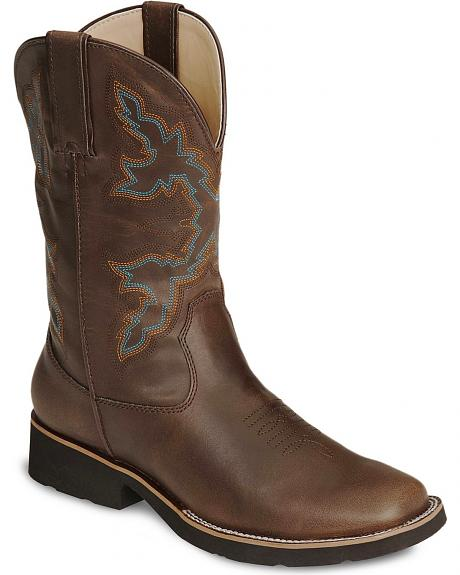 Roper Boys' Brown Rider Cowboy Boot - Square Toe