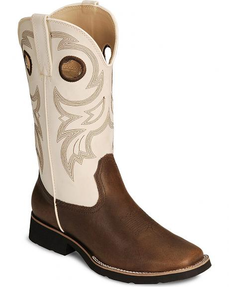 Roper Youth Brown Rider Buckaroo Cowboy Boot - Square Toe