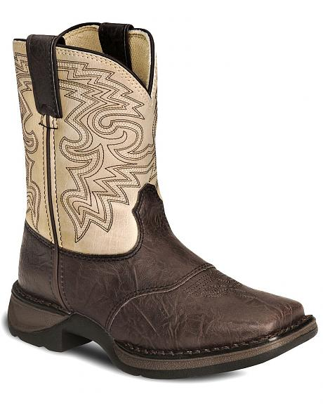 Durango Boys' Brown Lil' Rebel Cowboy Boots - Square Toe