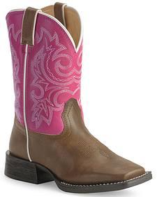 Durango Boys' Lil' Partners Cowboy Boots - Square Toe