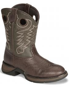 Durango Boys' Dark Brown Lil' Rebel Cowboy Boots