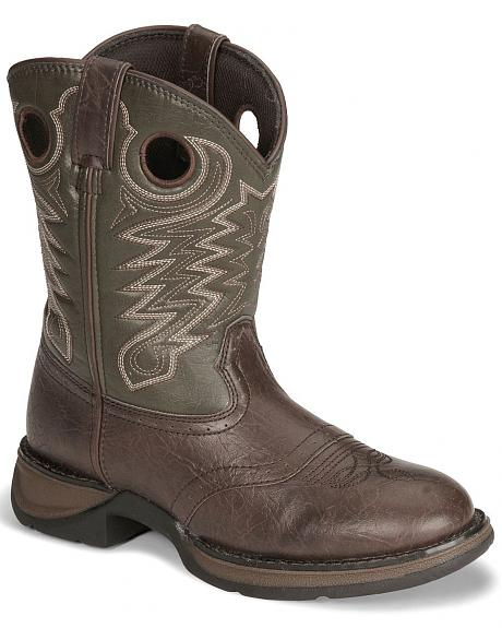 Durango Boys' Dark Brown Lil' Rebel Cowboy Boots