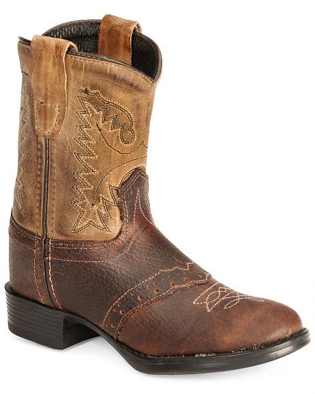 Old West Toddler Boys' Ultra Flex Thunder Cowboy Boot - Round Toe