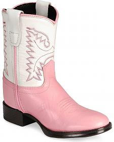 Old West Toddler Girls' Ultra Flex Pink Cowboy Boot