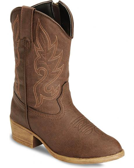 Laredo Children's Ryan Zipper Cowboy Boots - Round Toe