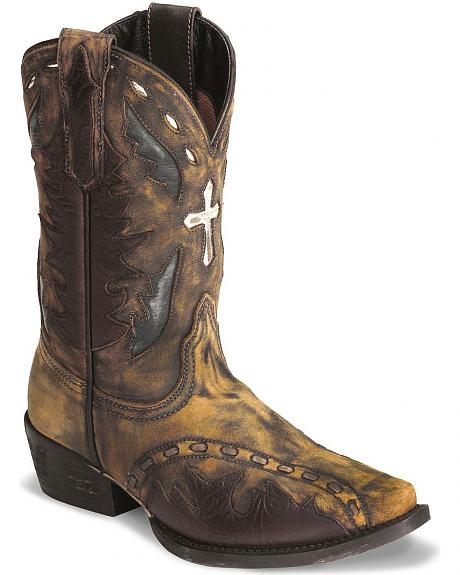 Dan Post Boys' Anthem Cross Vintage Cowboy Boots
