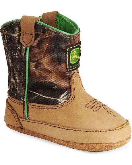 John Deere Infant Boys' Johnny Poppers Camo Crib Bootie