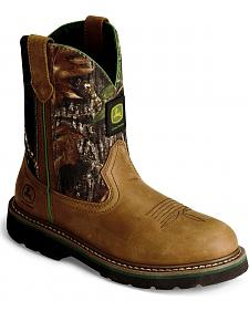 John Deere Youth Boys' Camouflage Boot - Round Toe