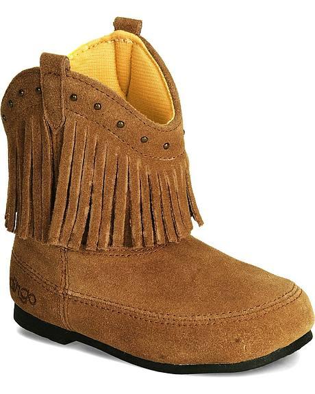 Dingo Children's Suede Leather Fringe Boot