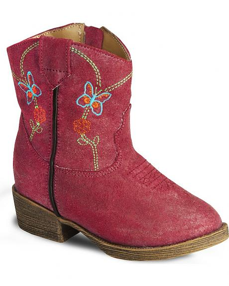 Dingo Toddler Butterfly Embroidery Cowboy Boot