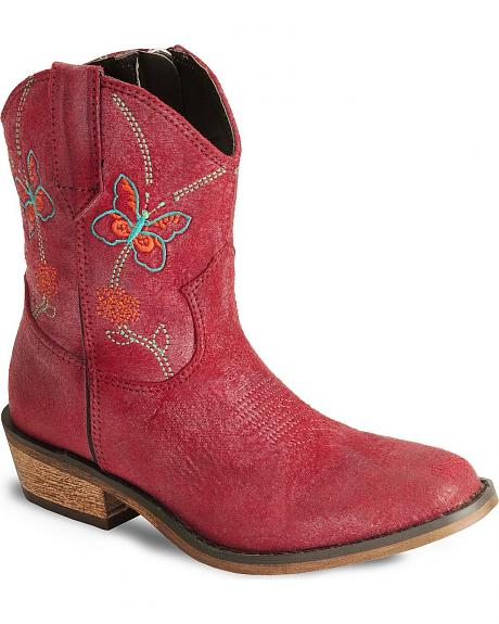 Dingo Children's Butterfly Embroidery Cowgirl Boot