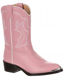 Durango Little Girls' Pink Western Boots - Round Toe
