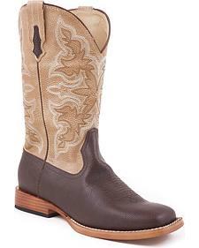 Roper Youth Tan Cowboy Boots