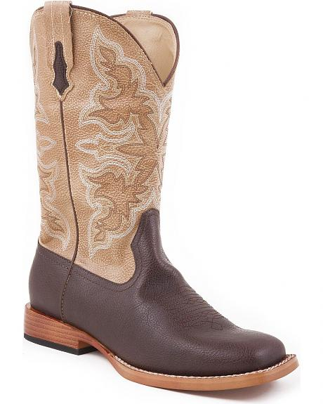 Roper Youth Tan Cowboy Boots