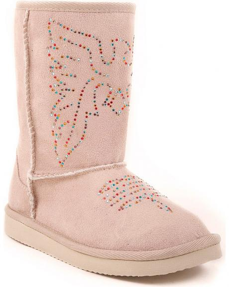 Roper Children's Faux Suede Shearling Boots