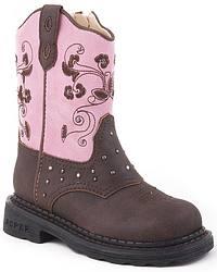 Roper Toddler Girls' Light Up Western Boots at Sheplers
