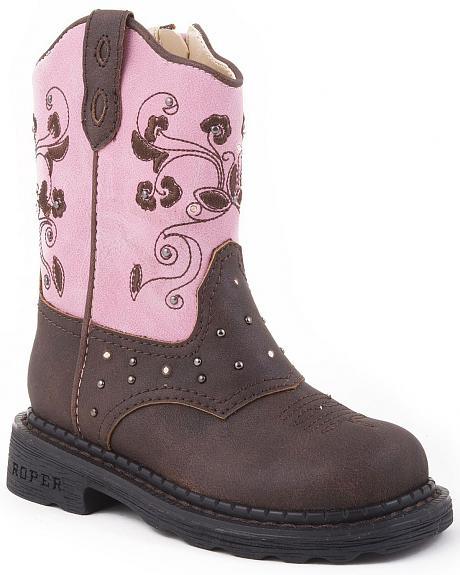 Roper Infant Girls' Light Up Western Boots