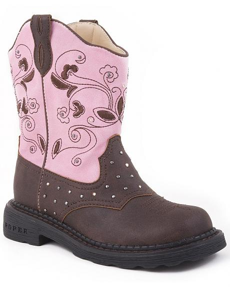 Roper Girls' Light Up Western Boots