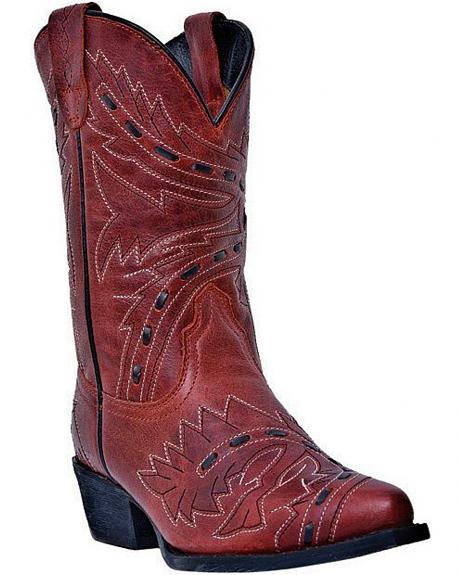 Dan Post Youth Sidewinder Cowgirl Boots - Snip Toe