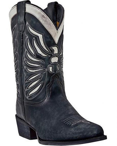 Dan Post Children's Eagle Inlay Cowboy Boots - Snip Toe