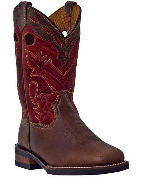Dan Post Children's Collar Overlay Cowboy Boots - Square Toe