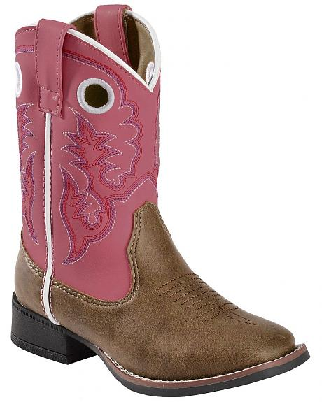Laredo Children's Pink Stitched Cowgirl Boots