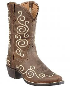 Ariat Youth Girls' Shelleen Cowgirl Boots - Snip Toe