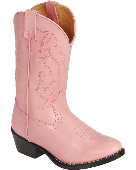 Red Ranch Children's Pink Leather Cowgirl Boots