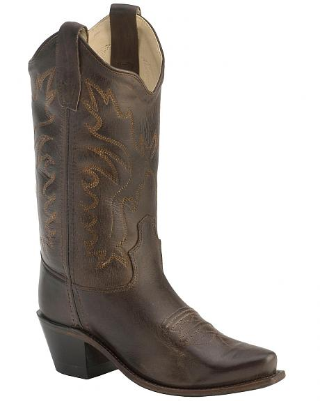 Old West Children's Fashion Stitched Cowboy Boots - Snip Toe