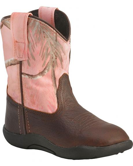 Old West Infant Girls' Realtree Camo Boots